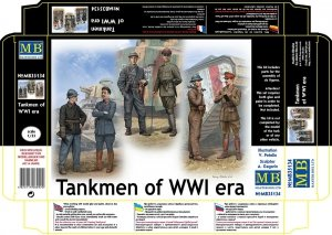 Master Box 35134 Tankmen of WWI era
