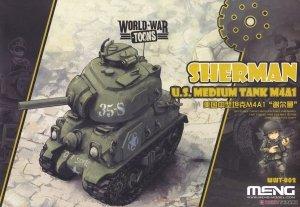 Meng Model WWT-002 World War Toons Sherman U.S. Medium Tank M4A1