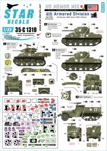 Star Decals 35-C1310 US Armored Mix # 3 1/35