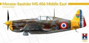 Hobby 2000 72032 Morane-Saulnier MS.406 Middle East ( Hasegawa ) 1/72