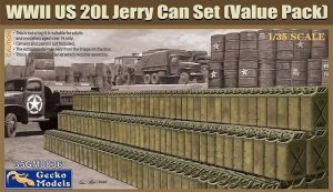 Gecko Models 35GM0036 WWII US 20L Jerry Can Set (Value Pack) 1/35