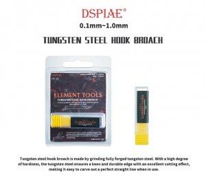 DSPIAE HC-05 0.5mm Tungsten Steel Hook Broach / Rysik ze stali wolframowej