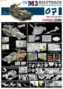 Dragon 3586 IDF M3 Halftrack w/TCM-20 Anti-Aircraft Gun - Smart Kit (1:35)