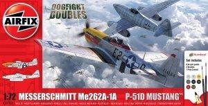 Airfix 50183 Messerschmitt Me262 & P-51D Mustang Dogfight Double - Gift Set 1/72