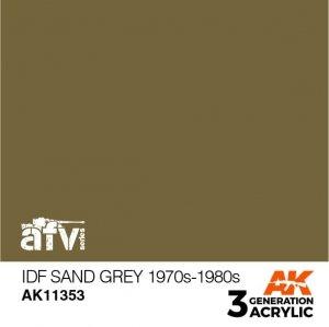 AK-Interactive AK 11353 IDF Sand Grey 1970s-1980s 17ml