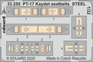 Eduard 33255 PT-17 Kaydet seatbelts STEEL for RODEN 1/32