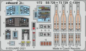 Eduard SS729 C-130H for Zvezda 1/72