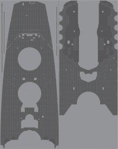 Pontos 35030WD1 IJN Yamato Wooden Deck set 1945 Coal Black (1:350)