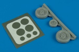 Aires 7240 F-105 Thunderchief wheels & paint masks 1/72 TRUMPETER