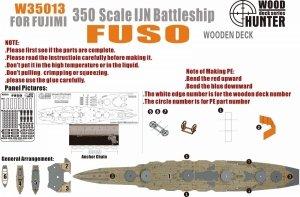 Wood Hunter W35013 Wood Deck IJN FUSO for Fujimi 1/350