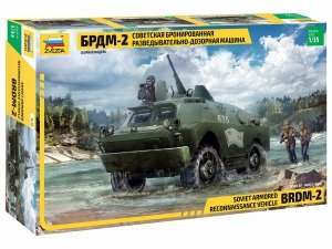 Zvezda 3638 Soviet Armored Reconnaissance Vehicle BDRM-2 1/35