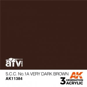 AK-Interactive AK 11384 S.C.C. No.1A Very Dark Brown 17ml