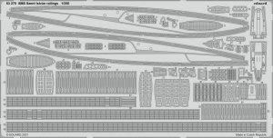 Eduard 53270 SMS Szent István railings TRUMPETER 1/350