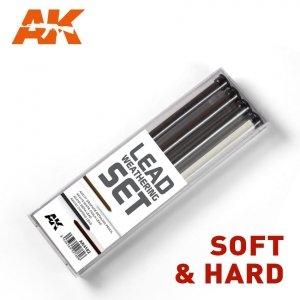 AK Interactive AK 4188 LEAD WEATHERING SET - HARD