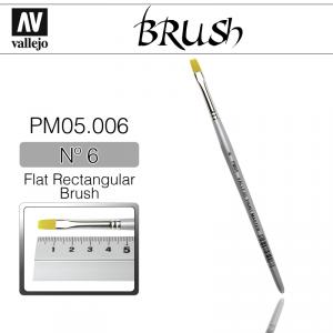 Vallejo PM05006 Brush Flat Rectangular Brush N6