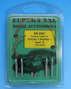 Eureka XXL ER-2501 Towing cable for Pz.Kpfw.V Panther Ausf.G Tank 1/25
