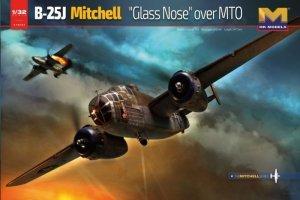 HK MODELS 01E024 B-25J Glass Nose, Version 2. Mediterranean Theater of Operations (MTO) 1/32