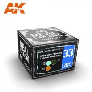 AK Interactive RCS033 LUFTWAFFE TROPICAL COLORS 1942-1944 3x10ml