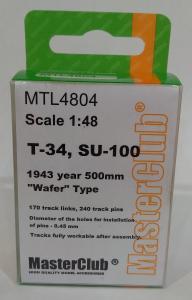 MasterClub MTL-4804 Tracks for T-34, Su-85, Su-100 Mod.1943 wafer 1/48