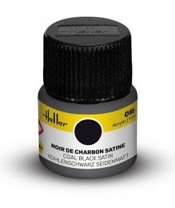 Heller 9085 085 Coal Black - Satin 12ml