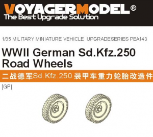 Voyager Model PEA143 WWII German Sd.Kfz.250 Road Wheels Patten 1 (For all) 1/35
