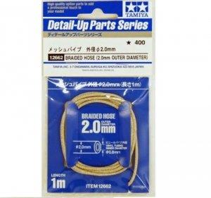 Tamiya 12662 Braided Hose Outer Diameter 2.0 mm
