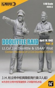 Sabre 4802 Lt Col J.H.Doolittle and USAAF pilot and decal for his B-25B 1/48