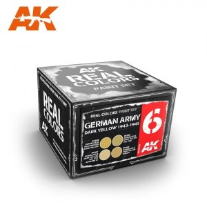 AK Interactive RCS006 GERMAN ARMY DARK YELLOW 1943-1945 SET (4x10ml)