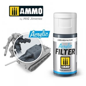Ammo of Mig 0829 ACRYLIC FILTER Pale Blue 15 ml