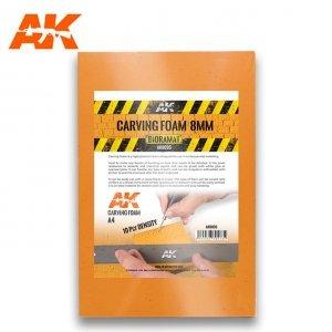 AK Interactive AK 8095 CARVING FOAM 8MM A4 SIZE (pianka do rzeźbienia)