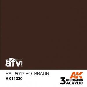 AK-Interactive AK 11330 RAL 8017 Rotbraun 17ml