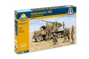 Italeri 7508 Autocannone RO3 with 90/53 AA Gun 1/72