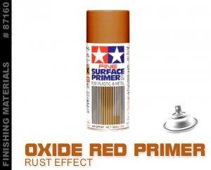 Tamiya 87160 Tamiya Fine Surface Primer L for Plastic Metal (Oxide Red) 180ml