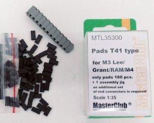 MasterClub MTL-35300 Pads T41 type for M3 Lee/Grant/RAM/M4 1:35