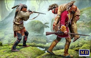 Master Box 35210 Wounded brother. Indian Wars series, XVIII century. Kit No. 2 1/35
