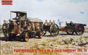 Roden 713 FWD Model B 3-ton & BL 8-inch howitzer Mk. VI (1:72)