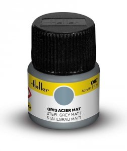 Heller 9087 087 Steel Grey - Matt 12ml