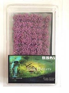 Bear`s Scale Modeling 200106 Pink Flowers 4-6mm (60 pcs)