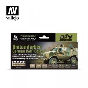 Vallejo 71159 Umtarnfarben German ISAF Colors 8 x 17 ml