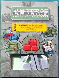 EUREKA XXL E-050 US WW2 Fuel Jerrycans #2 (4 pcs) 1/35