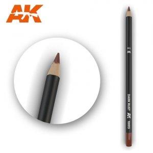 AK Interactive AK 10013 Watercolor Pencil DARK RUST