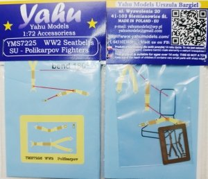 Yahu YMS7225 WW2 Seatbelts - Polikarpov 1/72