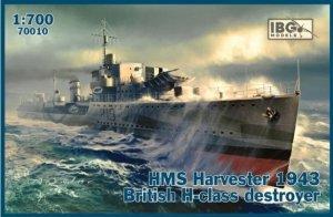 IBG 70010 HMS Harvester 1943 British H-class destroyer 1/700