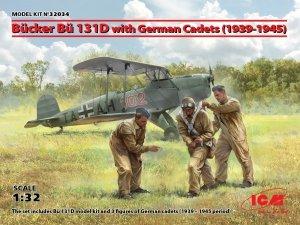 ICM 32034 Bücker Bü 131D w/German Cadets (1939-1945) 1/32