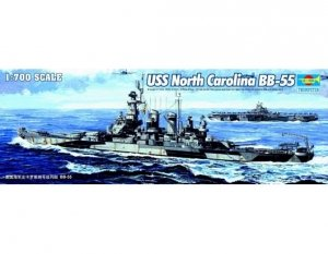 Trumpeter 05734 USS North Carolina BB-55 1/700