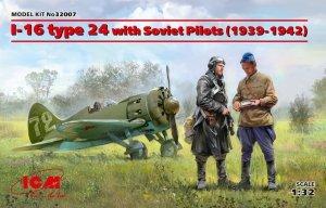 ICM 32007 I-16 type 24 with Soviet Pilots (1939-1942) 1/32