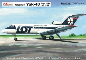 AZ Model 14422 Jak-40 LOT/Olympic 1/144