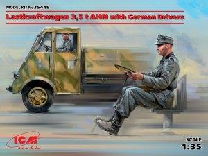 ICM 35418 Lastkraftwagen 3,5 t AHN with German Drivers (1:35)