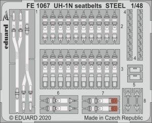 Eduard FE1067 UH-1N seatbelts STEEL KITTY 1/48 HAWK