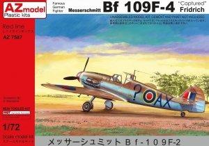 AZ Model AZ7587 Messerschmitt Bf 109F Captured (1:72)